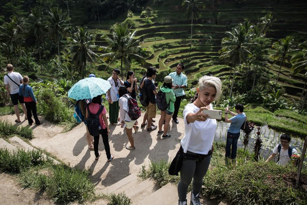 المزارات السياحية الشهيرة في بالي عادة تكون مزدحمة