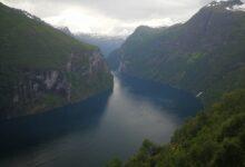 صورة ملتقطة أثنا رحلة بحرية إلى مضيق جيرانجير في النرويج